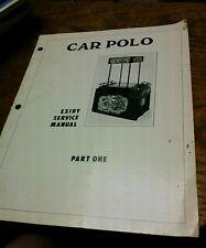 Exidy CAR POLO Arcade Video Game Manual - good used original