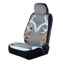 Realtree Camo Universal Seat Cover Ice Blue Antler, Camouflage Auto Car Truck