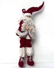 LES ALPES 011 7370-NATALE - Babbo Natale in velluto - cm. 45. 45