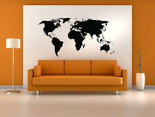 Map dcor decals stickers vinyl art ebay world map wall decal sticker world country atlas the whole world vinyl gumiabroncs Gallery
