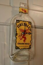 Fireball Whisky Wall Clock Melted Whiskey Bottle Man Cave