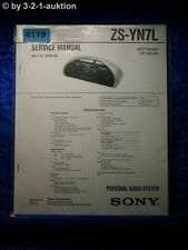 Sony Service Manual ZS YN7L Audio System (#6119)