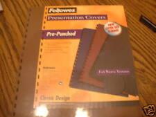 FELLOWES PRESENTATION COVERS (NIP) 6 PACKS OF 25 LETTER