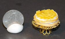 Dollhouse Miniature Banana Cake & Stand 1:12 one inch scale H121 Dollys Gallery