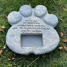 1pcs Paw Print Pet Memorial Stone Sun-proof Dog Tombstone Cat Outdoor Garden