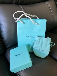 Tiffany & Co Gift Box, Jewelry Pouch & Paper Bag