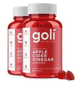 Goli Nutrition Apple Cider Vinegar 60 Gummies, pack X2