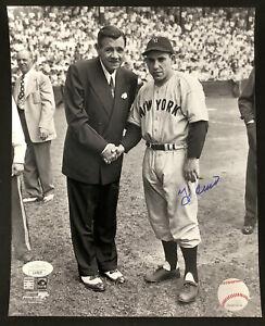 Yogi Berra Signed Photo 8x10 Baseball NYY Autograph 1947 Babe Ruth HOF MLB JSA