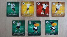 7 Sammelkarten Rewe Fußball 2010, Nr. 5, 7, 9, 14, 17, 2 x 25, Schweinsteiger us
