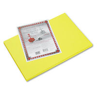 Pacon Riverside Construction Paper 76 lbs. 12 x 18 Yellow 50 Sheets/Pack 103616
