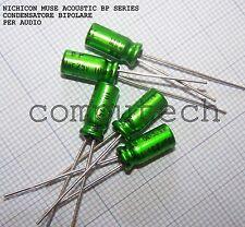 10uF 25V NICHICON BP MUSE ACOUSTIC Condensatore bipolare per audio 2 pezzi