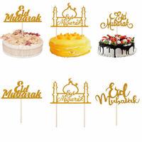 Decor Party Supplies Cupcake Toppers Cake Decor Muslim Baking Eid Mubarak