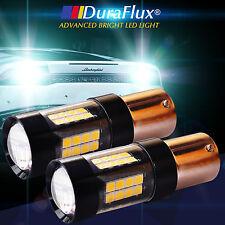 DuraFlux 160W White OSRAM LED 1156 BA15S P21W Backup Reverse Light Bulbs 2500LM