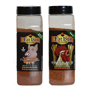 Fat Boy Natural BBQ Top Two Rub Combo Package 24 oz