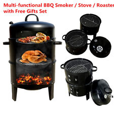 New Portable Charcoal BBQ Grill Kettle Roast Round Oven Smoker