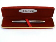 PARKER 75 STERLING SILVER FOUNTAIN PEN WITH 14K GOLD M NIB FLAT TASSIE - USA