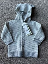 United Colors Of Benetton Baby Boys Grey Knitted Cardigan With Ears 3-6 Months