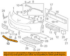 Chevrolet GM OEM Corvette Front Bumper Grille Grill-Lower Absorber 22790935