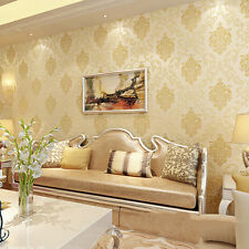 10m 3D Embossed Non-woven Luxury Wallpaper Roll Living Room Bedroom DecorationBY