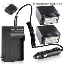 VW-VBD78 Battery & Regular Charger for Panasonic HDC-Z10000 (Z10000GK, Z10000P)