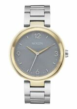 Nixon Ladies Chameleon Stainless Steel Gold Tone Bezel 39mm Watch A991 2477 NEW!