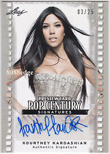 2011 POP CENTURY PREVIEW AUTO: KOURTNEY KARDASHIAN #3/25 AUTOGRAPH KIM'S SISTER