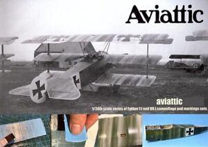 Aviattic Decals 1/24 FOKKER Dr.1 TRIPLANE Streaked Camo Pale Blue Linen MENG KIT