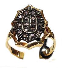 ANELLO ORO ARGENTO STILE ANTICO DIAMANTI RING GOLD SILVER DIAMONDS NUOVO