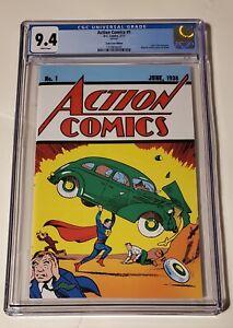 Action comics#1 cgc 9.4 (loot crate variant) Action comics reprint. 2017
