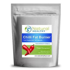 120 Chilli Fat Burner Capsules - Natural Diet slimming pills complex Fat burner.