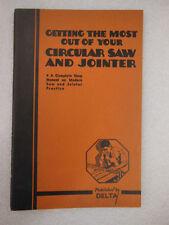 DELTA - Circular Saw & Jointer - complete Shop Manual & Power Tool Handbook 1937
