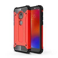 Shockproof Case For Motorola Moto G7 Power XT1955 Black Dual Layer Phone Cover