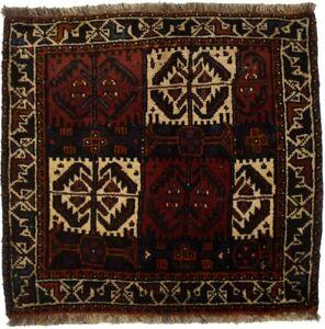 Handmade Tribal Geometric 2'5X2'5 Farmhouse Square Rug Decor Oriental Carpet