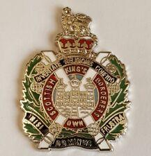 Enamel Lapel Badge King Own Scottish Borders