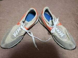 NIKE Daybreak Men's Sneakers size 14 Vintage Beige x Orange Rare Used