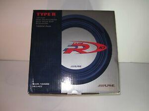 NEW Old School Alpine TYPE R SWR-1042D Dual Voice Coil Subwoofer 4 ohms 1500W
