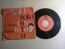 """Totò – 'A Livella / Pasquale – Disco Vinile 45 giri 7""""(Stampa Italia)"""