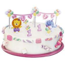 Torten-Dekoset 1. GEBURTSTAG MÄDCHEN, 10-teilig für Geburtstags-Kuchen, Muffins