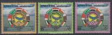Irak Iraq 1979 ** Mi.999/1001 Sport Fußbll Football Flaggn Flags