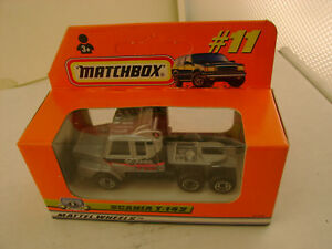 1998 MATCHBOX SUPERFAST #11 SILVER SCANIA T-142 TRACTOR TRUCK NEW IN BOX