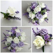 Lilac Thistle Wedding Flowers - Brides Bouquet - Bridesmaid - Buttonhole