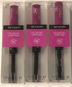 3 Pack, Revlon Colorstay Overtime Longwear Lipcolor, 520 Neverending Purple
