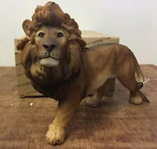 More details for naturecraft large standing lion ornament figurine bnib lion statue gift present