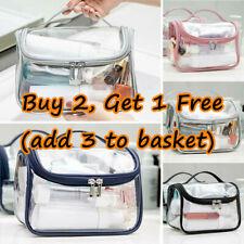 Clear Toiletry Cosmetic Transparent PVC Bags Travel Bag Pouch Makeup Handbag Hot