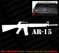 COLT AR-15 Vinyl Window Sticker Car Gun Rights/3%/Decal Assault Rifle FA034