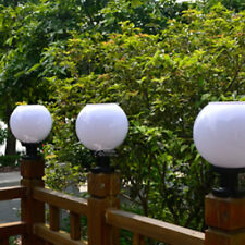 Outdoor Solar Power LED Path Wall Landscape Mount Garden Fence Lamp Round Light