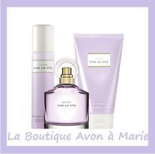 Lot Eau de parfum VIVA LA VITA + déo + Lait AVON neuf, Livraison Gratuite !!!!