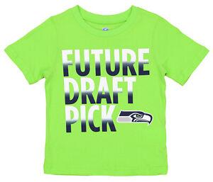 OuterStuff NFL Boys Girls Toddler Seattle Seahawks Future Draft Pick Tee, Green