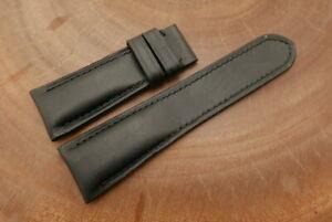 26mm/22mm Black Genuine VEGTAN CALF Leather Watch Strap forPANERAI