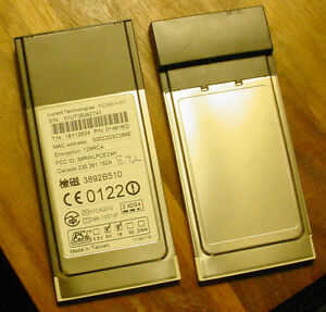 GOLD Lucent Wavelan Orinoco PCMCIA PC Card 802.11b Mac Win PC24E-H-FC